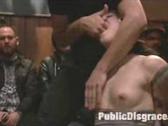 Public Anal Slave Group BDSM Humiliation and Extreme