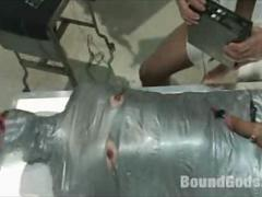 BDSM Gay Mummification and Torturing by Medical Fetishes