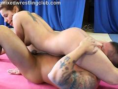 eroticmixed wrestling Angel Rivas vs Zsolt