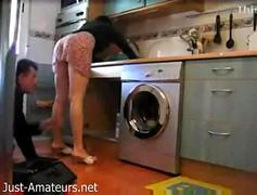 Milf Hides camera then teases the Repairman