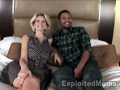 Mature Housewife gets filled w Black Cock in Interracial Video
