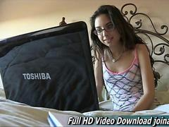 Trinity Fun loving Italian girl passes younger multiple strong orgasms