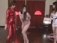 Asian Girl With Shaved Pussy Fingering Herself Getting Tied Up Fingered And Fisted By 2 Mistresses