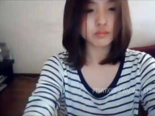 Hairy asian masturbates on Skype, stickam ->