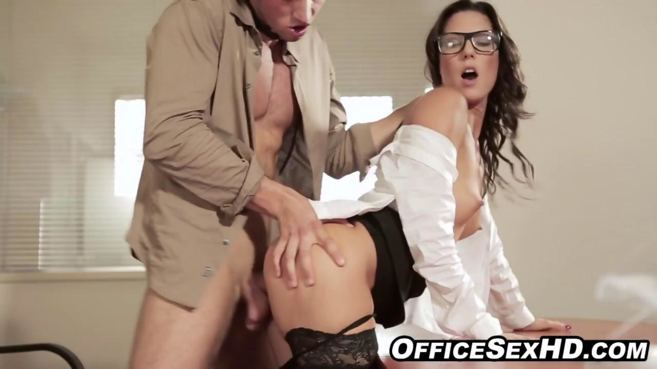 Hot Brunette Office Fuck