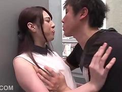 Japanese chick gets fingered and licked before a threesome banging