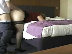 Homemade cock hunrgy wife fucked hard on the couch