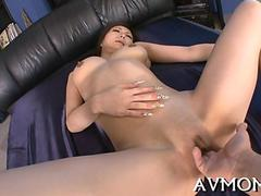 Japanese MILF with long nails fucked in her uncensored pussy