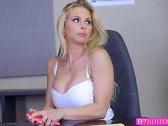 Rachel Roxxx is a horny secretary  that loves fucking a huge cock