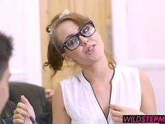 Ania Kinski and Zoe Doll slammed by Jordis massive cock