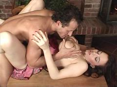 Huge tits MILF fucked by a mature experienced stud