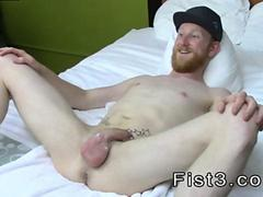 Ugly ginger twink loves having his bum fisted hard