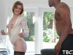 babe rides bbc and screams video film 1