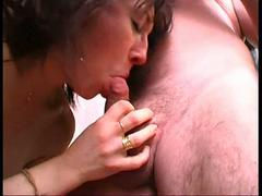 Sophie fucked in a threesome in a sauna club