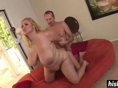 Giant boobs titty fucking with Samantha 38G