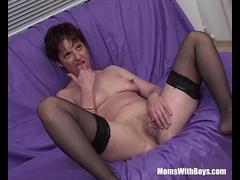 MomsWithBoys Mature Model Takes On Three Hard