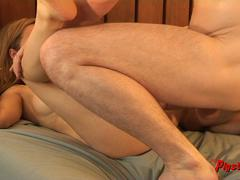 Real Couple Natural Sex Wife Orgasms and Creampie