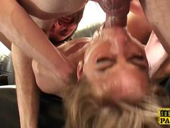 Cockriding british sub gets jizzed in mouth
