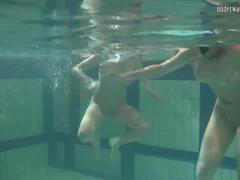 Two hot mermaids strip eachother and want eachother