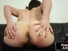 Femboi amateur dildoing her tight ass