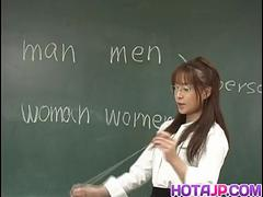 Manami Suzuki is pumped in the classroom - More at hotajp.com