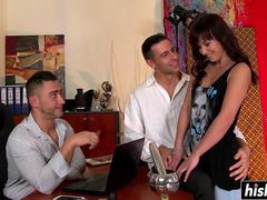 Incredible babe takes on two rods
