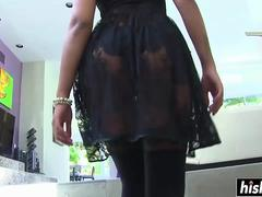 petite black chick loves to suck cock video