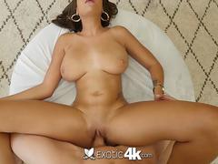 EXOTIC4K Big ass oiled ebony fucked but HUGE dick