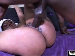 Black dick disappears in two babes