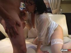 Wife in stockings gets nailed by her hubby