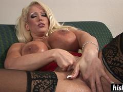 Solo blonde needs a big toy