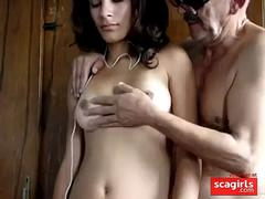 old man with young girl clip