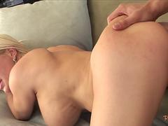 Stepmommy gets bent over and pussyfucked