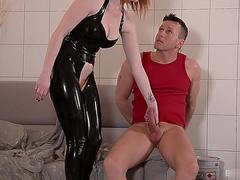 Zara Durose wanted to get laid so she put on her latex fuck