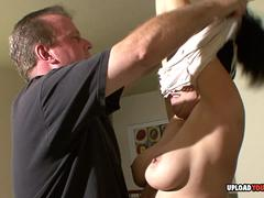 Thirsty slut with big tits loves it hard