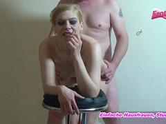 Smoking blond mature want to fuck doggystyle and to cum his german cumshot