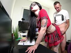 German Step Sister get Fucked by Brother after College