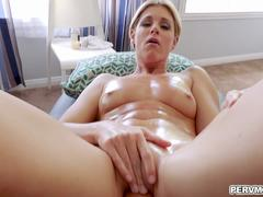 Lucky stepson gets to taste her stepmoms milf pussy