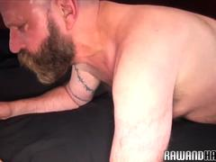 Chubby bear duo assfucking bareback