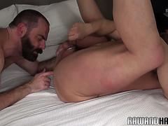 Dicksucking bear fingering hairy hunk