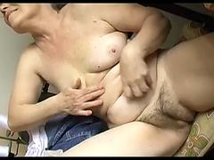 OmaPasS Closeup Hairy Granny Pussy and Toying
