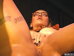 Horny busty 3D game heroes enjoy blowjob and sex