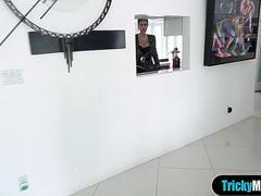 Classy MILF stepmother helps me to forget my ex GF