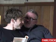 Ripped Father Fucker banged by stepdad and grandpa!