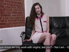 Sofia for the first time in her life shows her hymen.