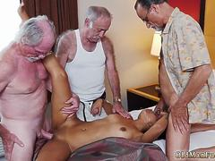 old man creampie Staycation with a Latin Hottie