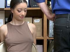 SCARLETT BLOOM caught robbing gets smashed by INVESTIGATOR