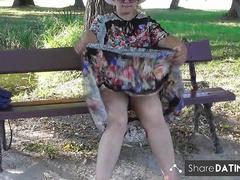 Hairy Mature in transparent dress part 3
