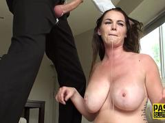 Busty Submissive in Heels