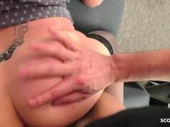 Real German Teen Couple Watch own Porn and get Horny to Fuck
